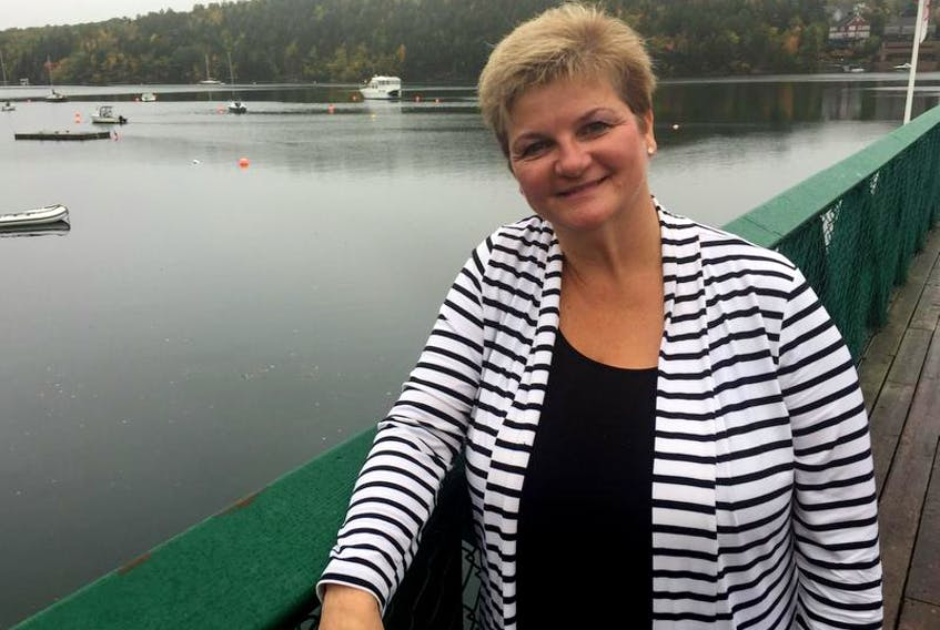 Judge Laurie Halfpenny-MacQuarrie spoke about her experience presiding over Wagmatcook provincial court at the annual Women's Legal Education and Action Fund Persons Day Breakfast at St. Mary's Boat Club in Halifax on Friday.
