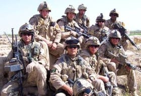 Lionel Desmond, far right corner, was part of the India Company, 2nd battalion, Royal Canadian Regiment in Afghanistan in 2007. - Facebook
