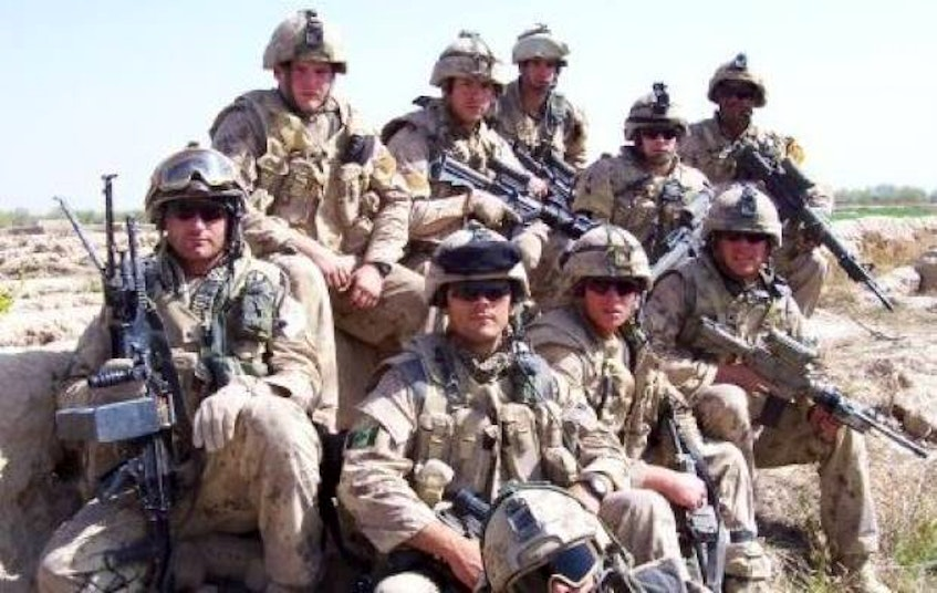 Lionel Desmond, far right corner, was part of the India Company, 2nd battalion, Royal Canadian Regiment in Afghanistan in 2007. - Facebook - Facebook