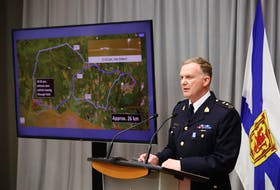 April 28, 2020—Nova Scotia RCMP Superintendent Darren Campbell gives an update, including timelines and surveillance images, that transpired during the shooting rampage around Portapique, Debert and Wentworth April 18 and 19th.