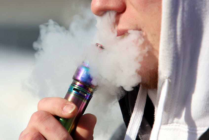 Photo of a 20-year-old vaping.