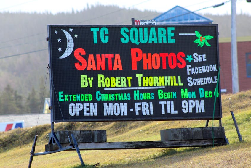 Robert Thornhill has recently decided against continuing his holiday services at the Trinity Conception Square Mall in Carbonear.