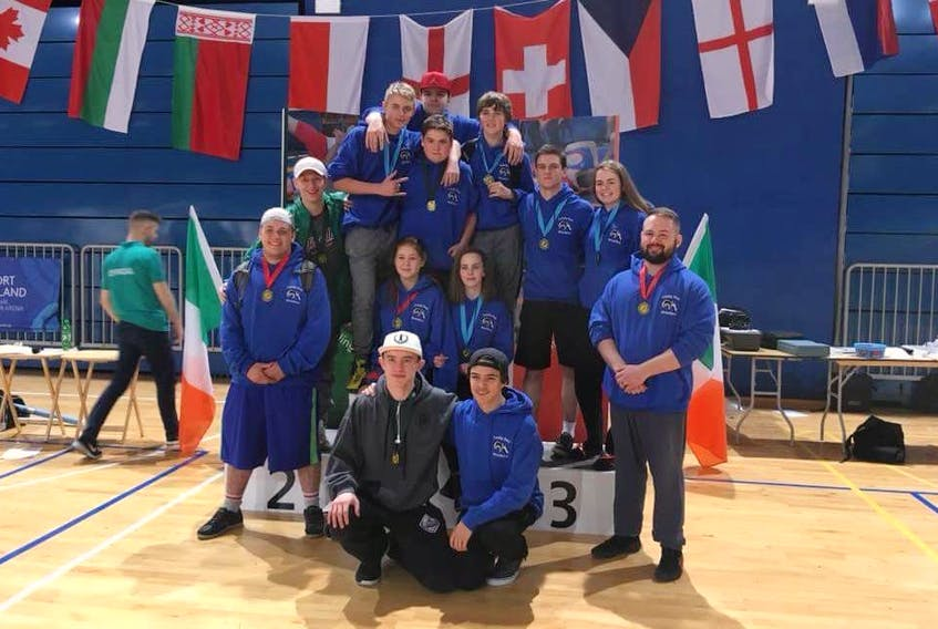 Members of the Trinity Bay Wrestling Team that competed at the Irish Open Freestyle Wrestling Championships. — Submitted photo