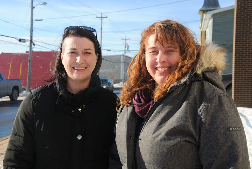 Courtney Clarke, left, and Sonya Nolan Baker of the Baccalieu Trail SPCA hope to see construction start up in the spring on the non-profit's first-ever animal shelter.
