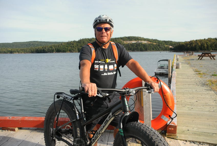 Lawrence Penney has three bikes he moves between depending on the sort of terrain he's preparing for.