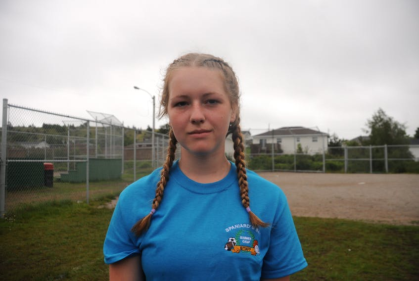 Jenna Lee Ralph of Spaniard's Bay does not believe it was fair for tournament organizers to prevent her and another girl from playing on the Butlerville softball team competing in the under-16 boys division at the Constable William Moss Memorial Softball Tournament.