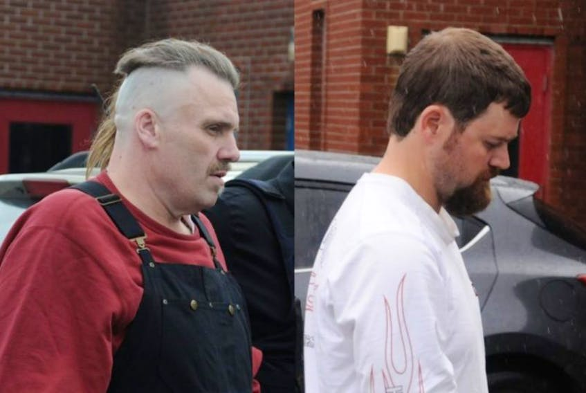 Allan Potter (left) and Daniel Leonard are charged with murdering Dale Porter.