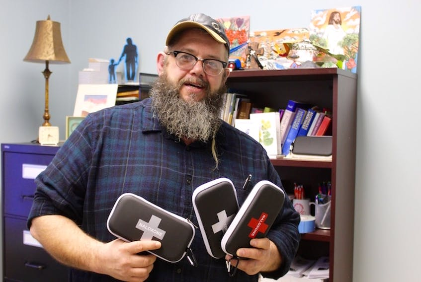 Jeff Bourne, executive director at U-Turn in Carbonear, is happy to help educate the public about the use of naloxone kits.