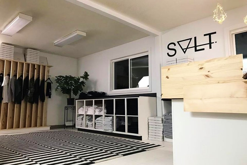 A temporary physical store for the clothing brand The Shop Salt by Grand Falls-Windsor entrepreneurs Emily Evans and Lauren Saunders is now open in Grand Falls-Windsor until Christmas, or until stocks last.