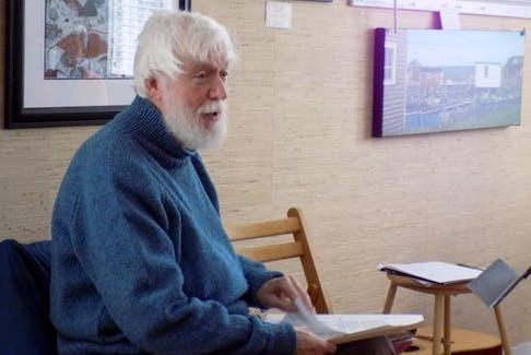 Lewisporte-based poet Philip Patey.