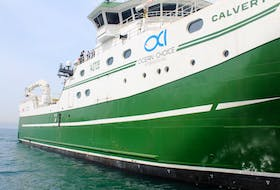 The Calvert is the first trawler to be built for the offshore fishery in Atlantic Canada since the 1980s, and the first one to be built for Ocean Choice International (OCI). The vessel adds to the company's offshore fleet that includes five other vessels. CONTRIBUTED PHOTO