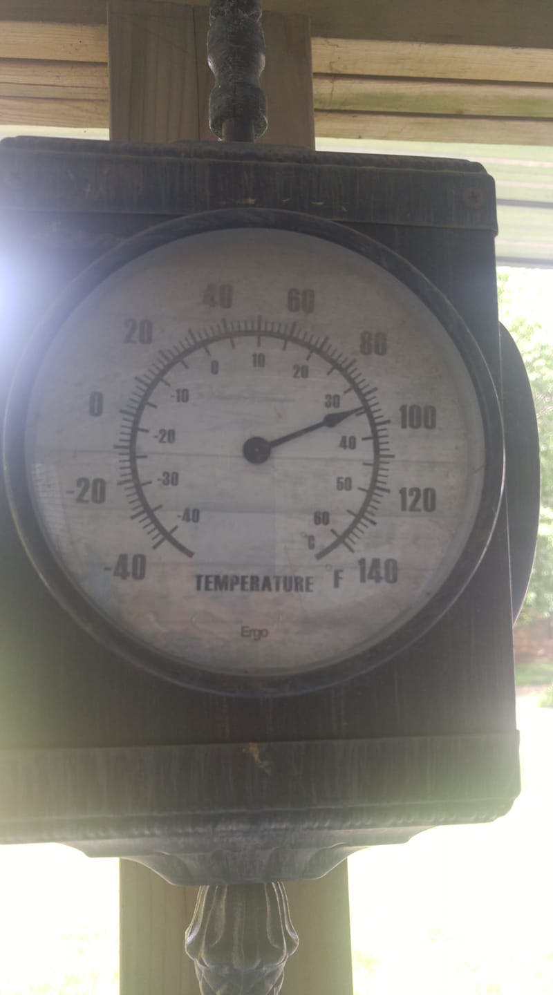 That's hot but hot enough to cook an egg? Not quite perhaps, but Monday was a scorcher in many parts of Atlantic Canada. Karen Freeman took this photo under her back deck in Greenwood N.S.