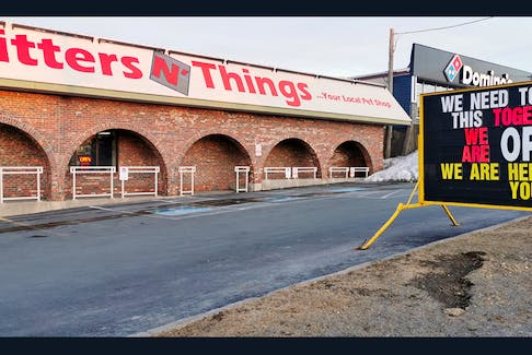 """Critters N' Things on Commonwealth Ave. in Mount Pearl is still open for business, and owner Mark Winsor has devised a creative way for them to provide """"personal shopping"""" for their customers."""