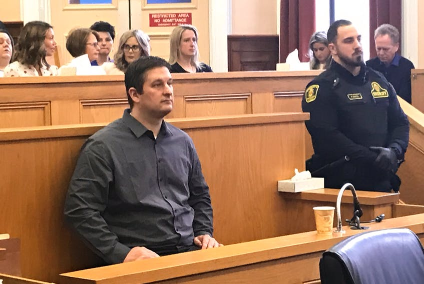 Convicted murderer Trent Butt awaits his sentence for first-degree murder and arson in Newfoundland and Labrador Supreme Court in St. John's.