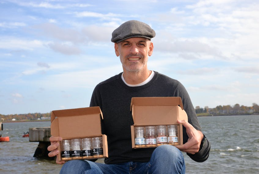 Darren Blanchard, co-founder of the P.E.I. Salt Co., is looking to grow the business and help out with charitable organization. Terrence McEachern/The Guardian