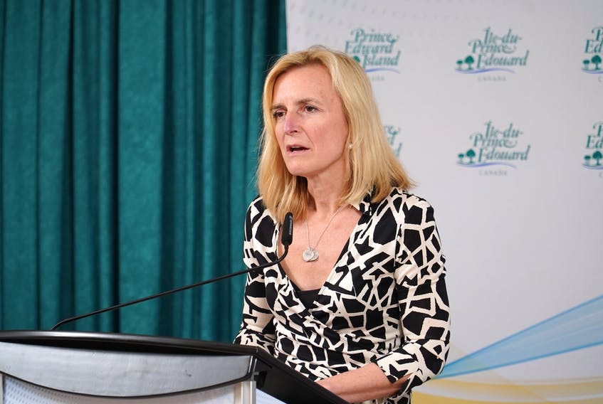 Chief public health officer Dr. Heather Morrison gives an update on the coronavirus (COVID-19) during a news conference on March 26, 2020.