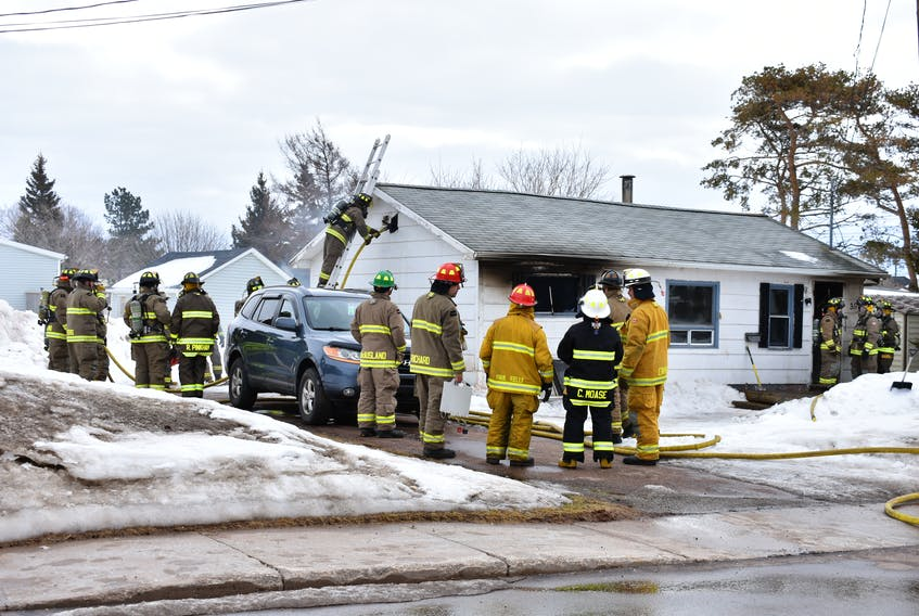 Fire guts home on Northumberland Street, Saturday.