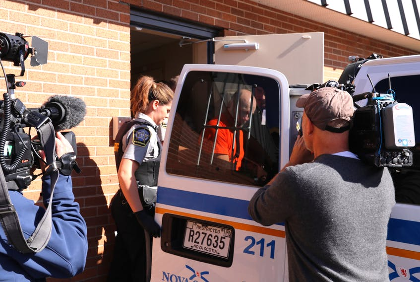 Ernie Duggan is seen leaving the provincial courthouse in Truro during a previous hearing.
