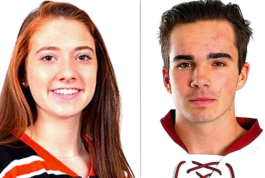 Hockey players Maggie Connors and Alex Newhook, who are among 128 Newfoundland and Labrador athletes receiving 2020 Premier's Athletics Awards, are also the winners of the Team Gushue Awards, given to a one female and male athlete each year.