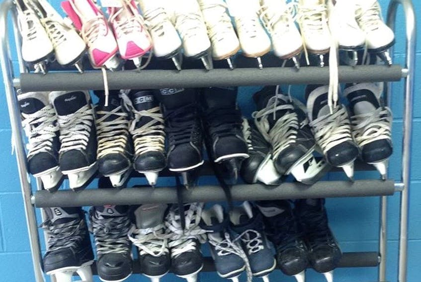 Ice skates are free at the Digby Arena for those who need them. CONTRIBUTED