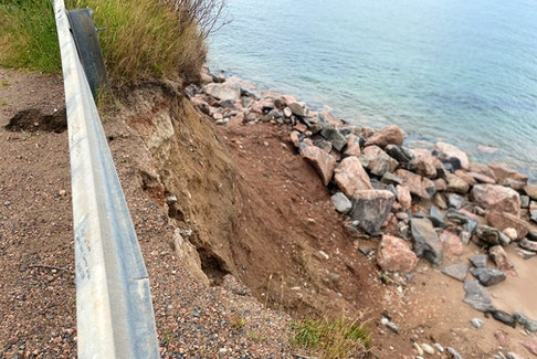 A section of Dingwall Road in Dingwall has been damaged by erosion. CONTRIBUTED