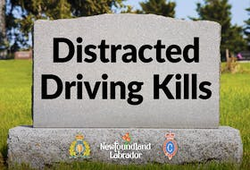 One of the social media messages the Newfoundland and Labrador government is distributing as part of a new campaign to combat distracted driving.