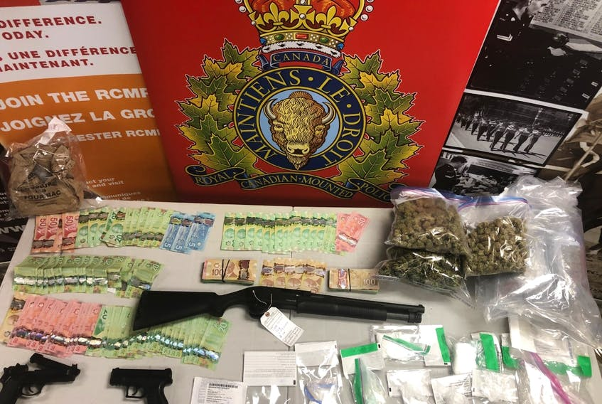 Drugs, guns and other items were seized in a series of police raids in Colchester County on July 30 and 31. Police searched nine properties in Bible Hill, Truro, Kemptown, Greenfield and Harmony and arrested 16 people.