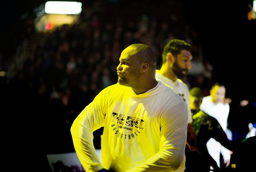 A foot injury will mean Glen Davis of the St. John's Edge will be watching from the sidelines for Game 3 of the NBL Canada final tonight at Mile One Centre. The Edge trail the Moncton Magic 2-0 in the best-of-seven series. — St. John's Edge file photo/Jeff Parsons