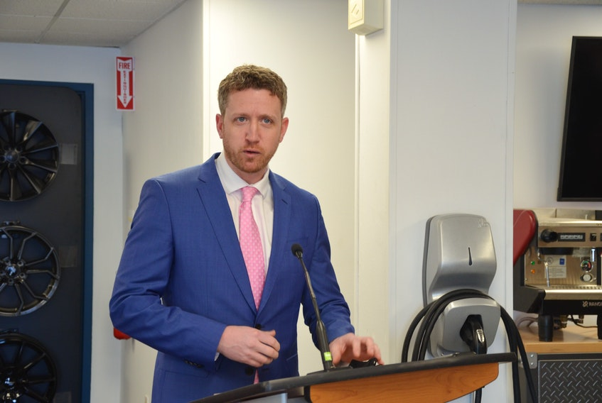 Premier Iain Rankin announces a $19-million investment to retrofit homes to make them more energy efficient and to encourage Nova Scotians to buy new or used electric vehicles at a Dartmouth electric vehicle dealership Wednesday, Feb. 24.