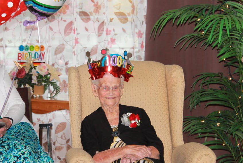 Eva Martin credits her longevity mainly to her faith in God. She celebrated her 100th birthday on Friday, Oct 20th surrounded by family and friends at Pleastantview Manor.