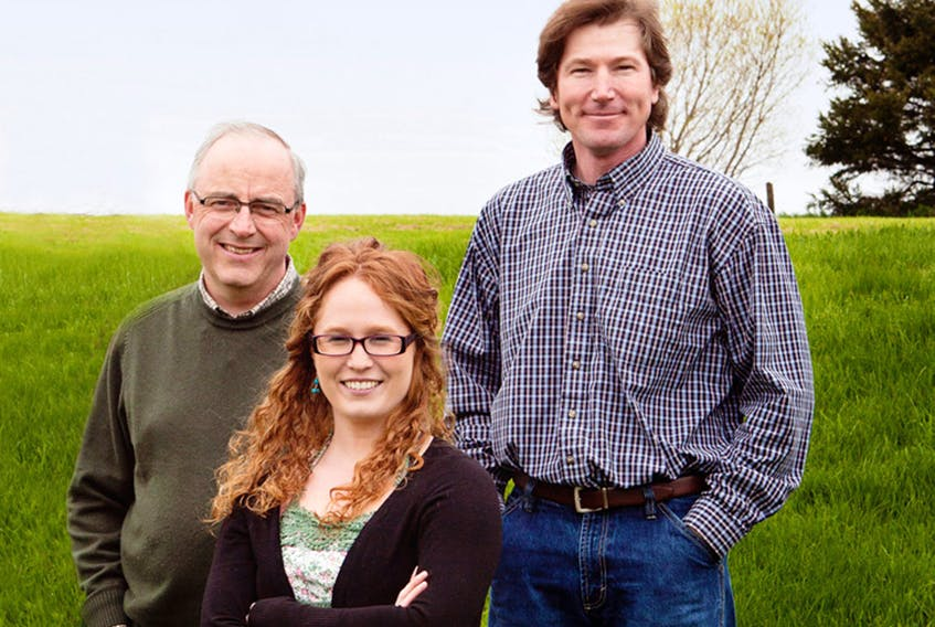Courtney Hogan-Chandler will be joining her Fiddlers' Sons bandmates, John B. Webster, left and Eddy Quinn, to present the Festive Fiddler's Feast set for Dec. 3 in Emerald. SUBMITTED PHOTO