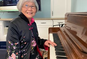Margaret Perron recently took up playing piano again and has been sharing her gift with other residents at The Berkeley. - Photo Contributed.