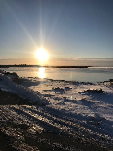 The warm glow of this winter sunrise caught Darren Crooks' eye.  If you look closely, you'll spot sunbeams radiating from the early day sun.  Darren snapped this inspiring photo one morning last week at Drum Head in Guysborough County, N.S.