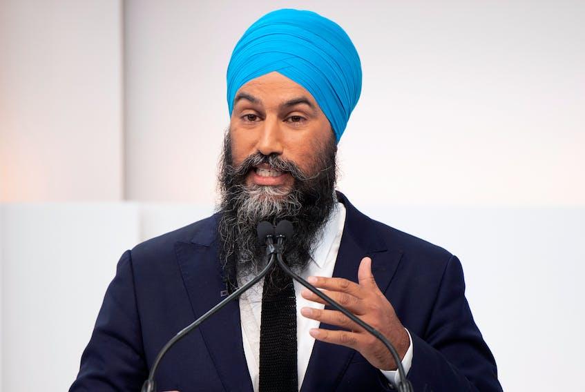 New Democratic Party (NDP) leader Jagmeet Singh speaks at the Maclean's/Citytv National Leaders Debate in Toronto on Sept. 12, 2019.