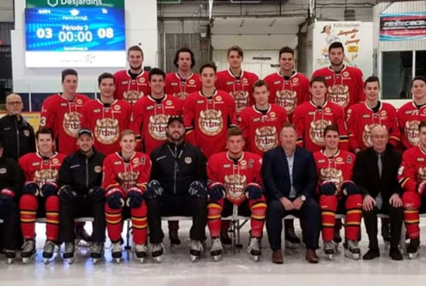 The Princeville Titan are representing the Quebec Junior AAA Hockey League at the Fred Page Cup following a 7-3 win over the Terrebonne Cobras to claim their championship series in five games.