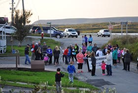 Approximately 50 people took part in the annual Take Back the Night march on Friday, Sept. 15. J. R. Roy/Special to the Gulf News