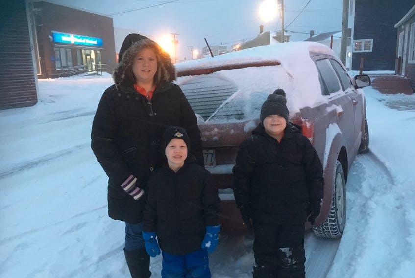 Amy Ingram with her two sons, Brayden (5) and Liam (7) Anderson.
