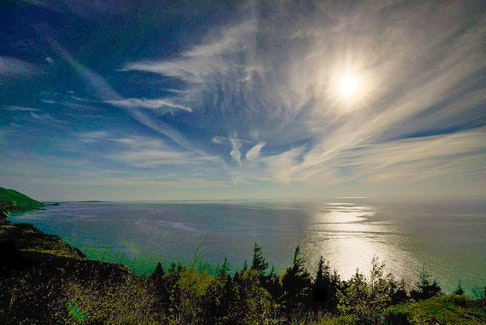 """Derek Shearer shared this photo of an interesting cloud formation in Cape Breton recently. Cindy Day's grandma always said, """"the higher the cloud, the better the weather."""""""
