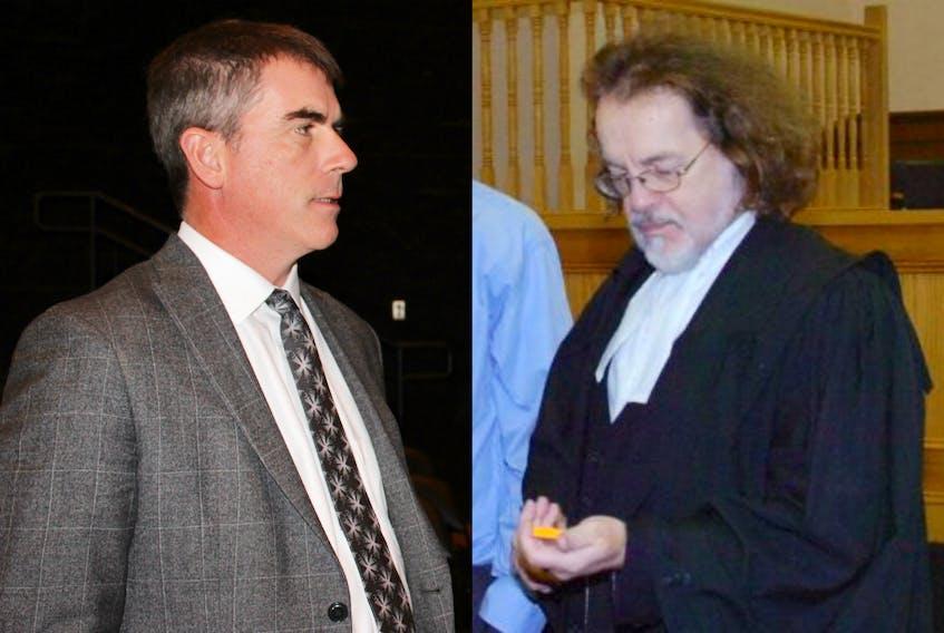 St. John's lawyers Geoff Budden (left) and Bob Buckingham.