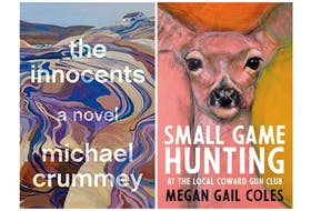 """Michael Crummey's """"The Innocents"""" and Megan Gail Coles' """"Small Game Hunting at the Local Coward Gun Club"""" were among the 12 nominees for the 2019 Scotiabank Giller Prize. (""""The Innocents"""" cover courtesy of Doubleday Canada. """"Small Game Hunting at the Local Coward Gun Club"""" cover courtesy House of Anansi Press.)"""