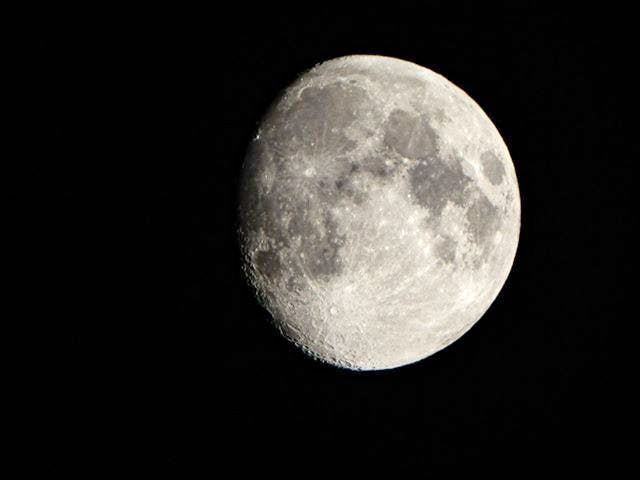 While you were sleeping…Barry Burgess was out taking more amazing photos. This was the waxing gibbous moon over Queensland Nova Scotia before sunrise on Wednesday. Waxing means that it's getting bigger; gibbous refers to the shape: less than the full circle, but larger than the semicircle shape of the moon at third quarter.