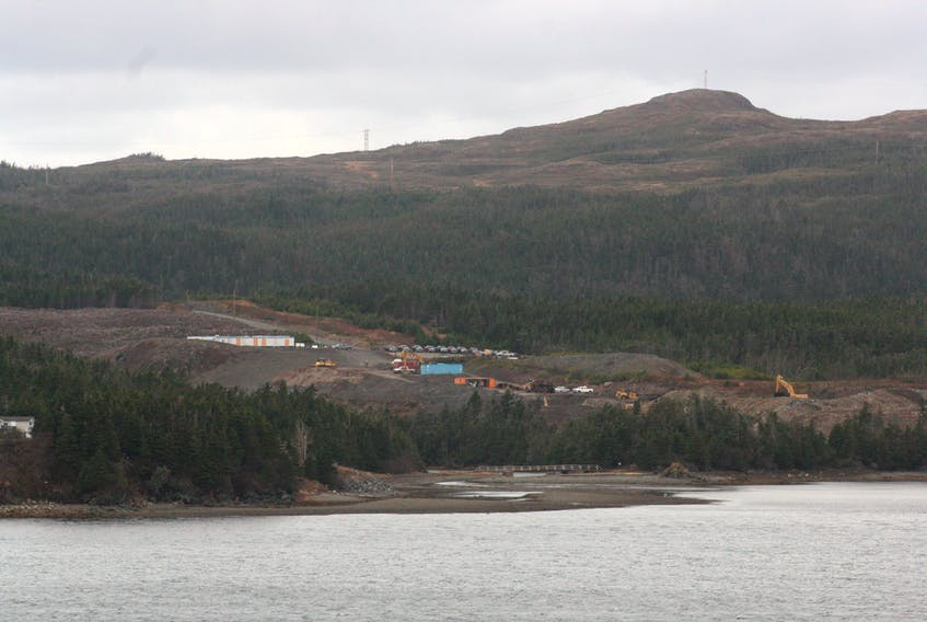 Work is underway at the future site of Grieg NL's Atlantic salmon hatchery in Marystown's marine industrial park.