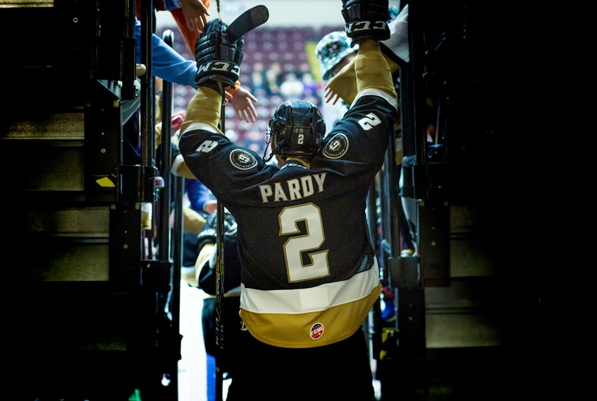 After 350 National Hockey League games over nine years, Adam Pardy closed out his playing career as a winner Tuesday night, winning the ECHL championship with the Newfoundland Growlers. - File photo