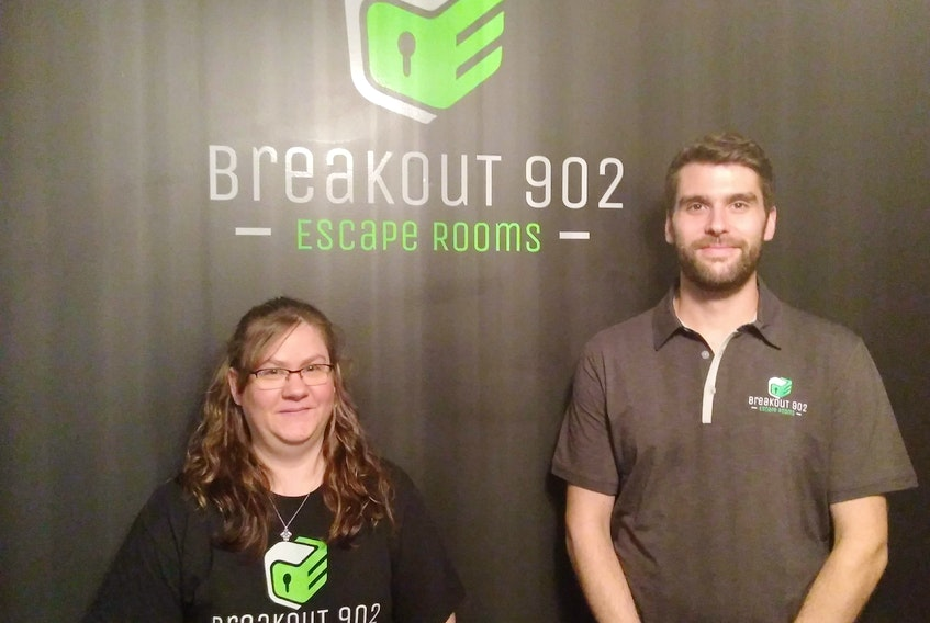 Laurent Jacquard created the 902 Breakout Escape rooms in Coldbrook that are set to open to the public this week. He says he could not have done it without the help of his family, including his sister, Tanya Doucette, who will be the on-site manager.