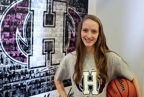 Ashley Plaggenhoef has committed to playing basketball for the Holland College Hurricanes next season.