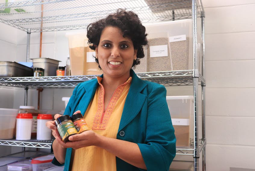 Shivani Dhamija, founder of Shivani's Kitchen, recently won the Immigrant Women Entrepreneurship Network Entrepreneur of the Year award. Dhamija is pictured in her company's production plant in Windsor on Oct. 23, 2020.