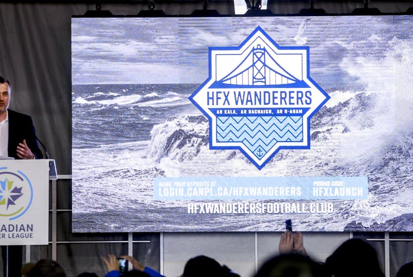 Derek Martin, president of Sports & Entertainment Atlantic, announces HFX Wanderers FC as a member of the Canadian Premier League on May 25, 2018.