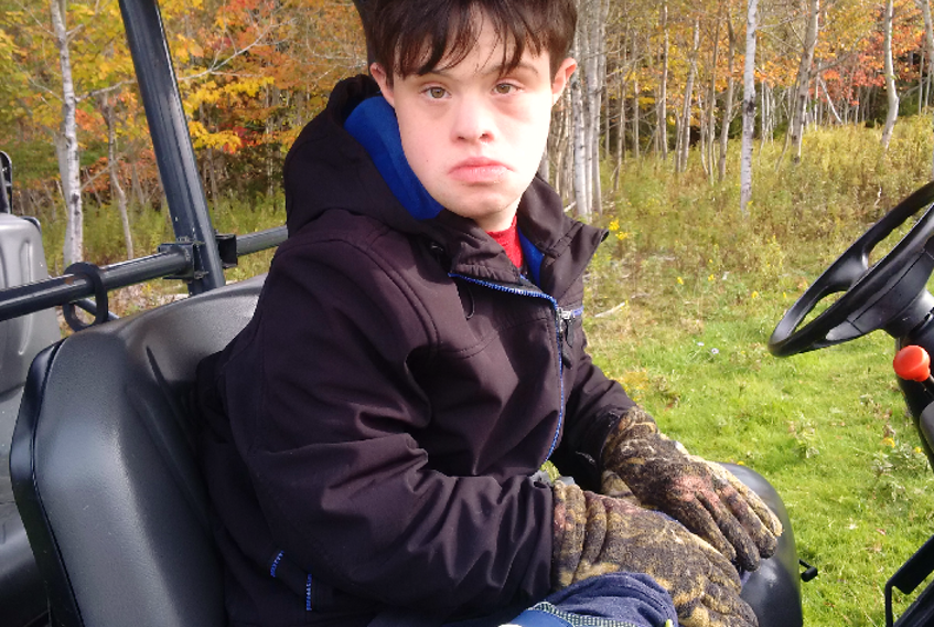 Jimmy MacNearney, 24, lives in Barr Settlement, N.S., with his parents and brother. As all people with Down syndrome, he is uniquely vulnerable to COVID-19, say advocates, and should be placed at the front of the queue for a vaccination.