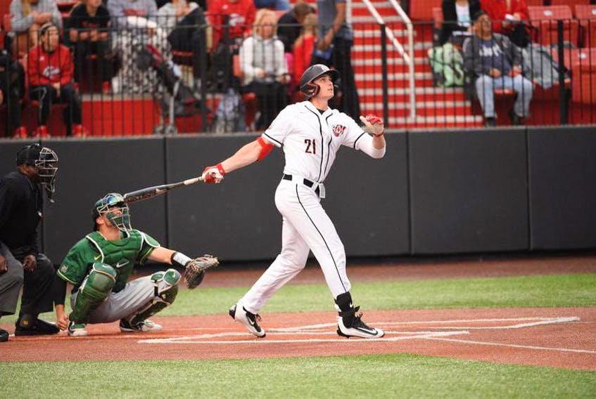 Western Kentucky University outfielder Jake Sanford of Dartmouth is expected to be selected in this week's Major League Baseball draft.