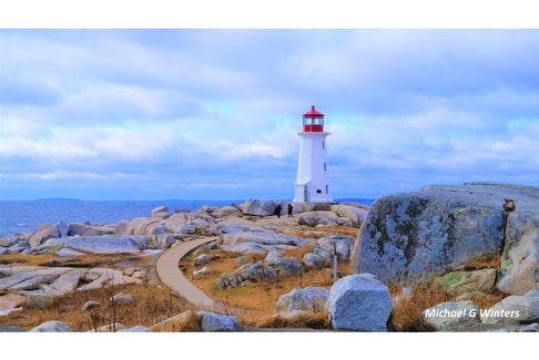 Michael Winters captured Peggy's Cove lighthouse on a winter's day.